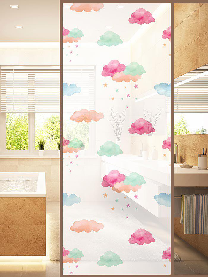Unique Frosted Clouds Glass Sticker for Window Bathroom