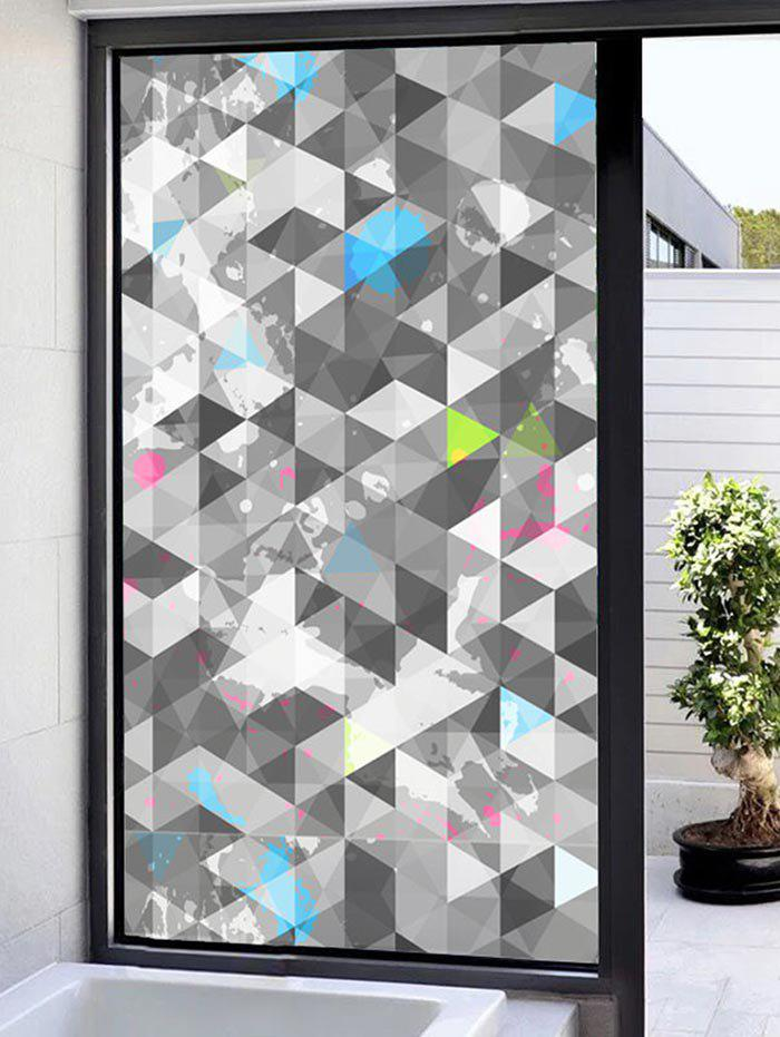 Outfits Frosted Geometric Glass Sticker for Window Bathroom