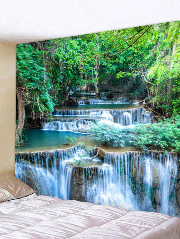Latest Wall Hanging Art Forest Waterfalls Print Tapestry