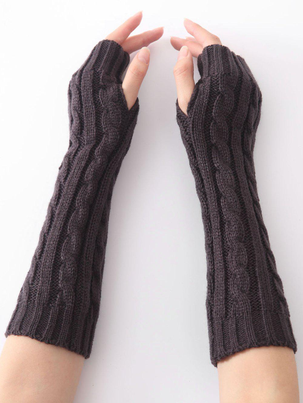 Vintage Infinity Crochet Knitted Arm Warmers