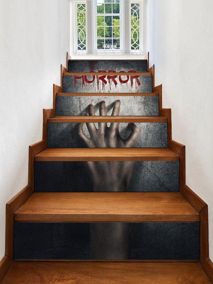 Cheap Halloween HORROR Hand Pattern Decorative Stair Stickers