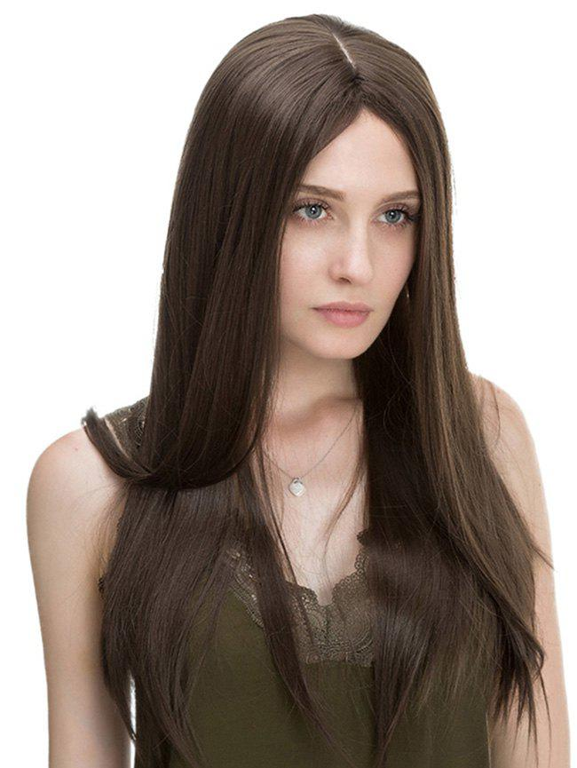 Fancy Center Parting Long Straight Capless Synthetic Wig