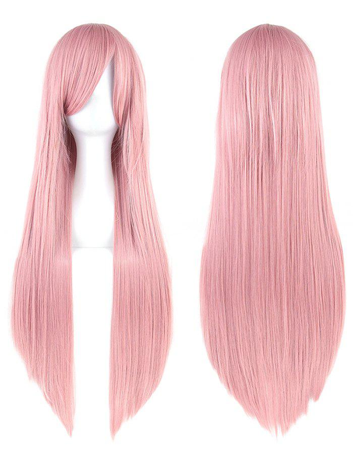 Best Long Inclined Bang Straight Party Cosplay Synthetic Wig