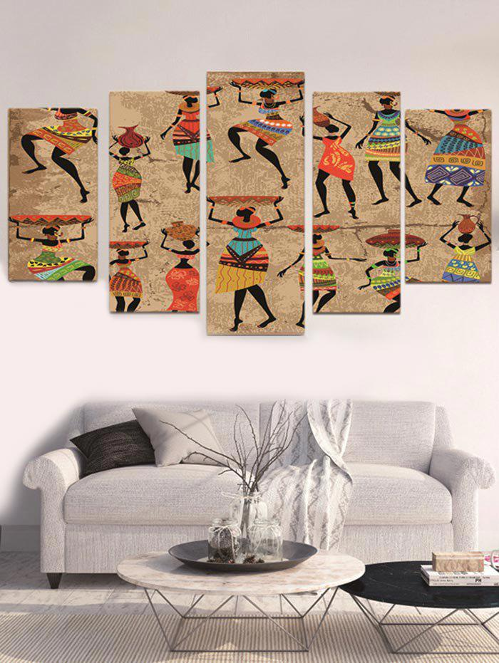 Cheap Unframed Indian Women Printed Split Canvas Paintings