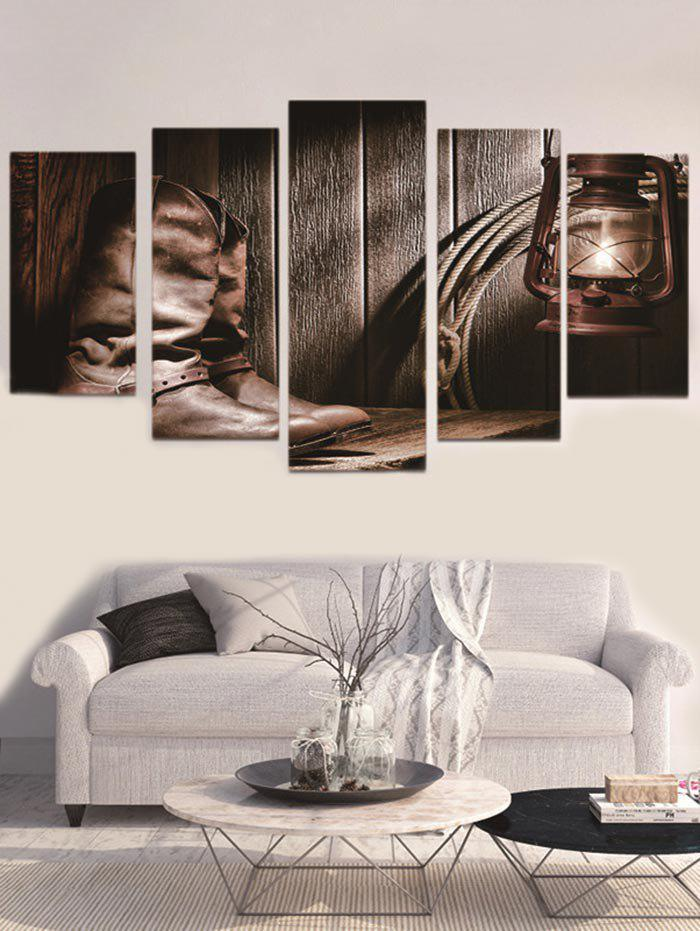 New Unframed Cowboy Boot Printed Split Canvas Paintings