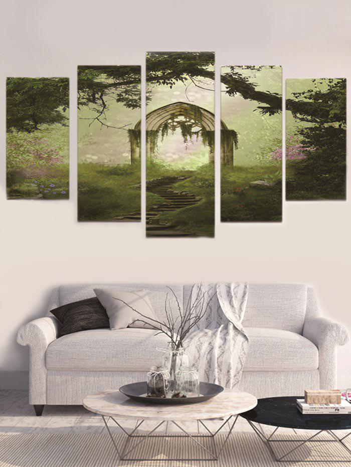 Hot Unframed Forest Arch Printed Split Canvas Paintings