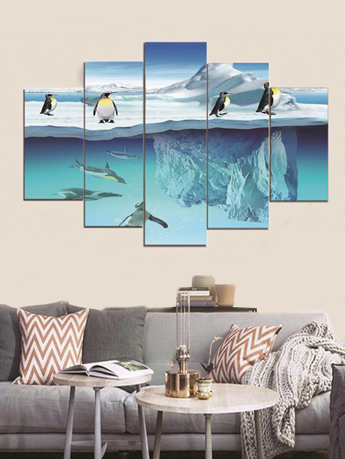 Shop Polar Penguins Printed Split Canvas Paintings