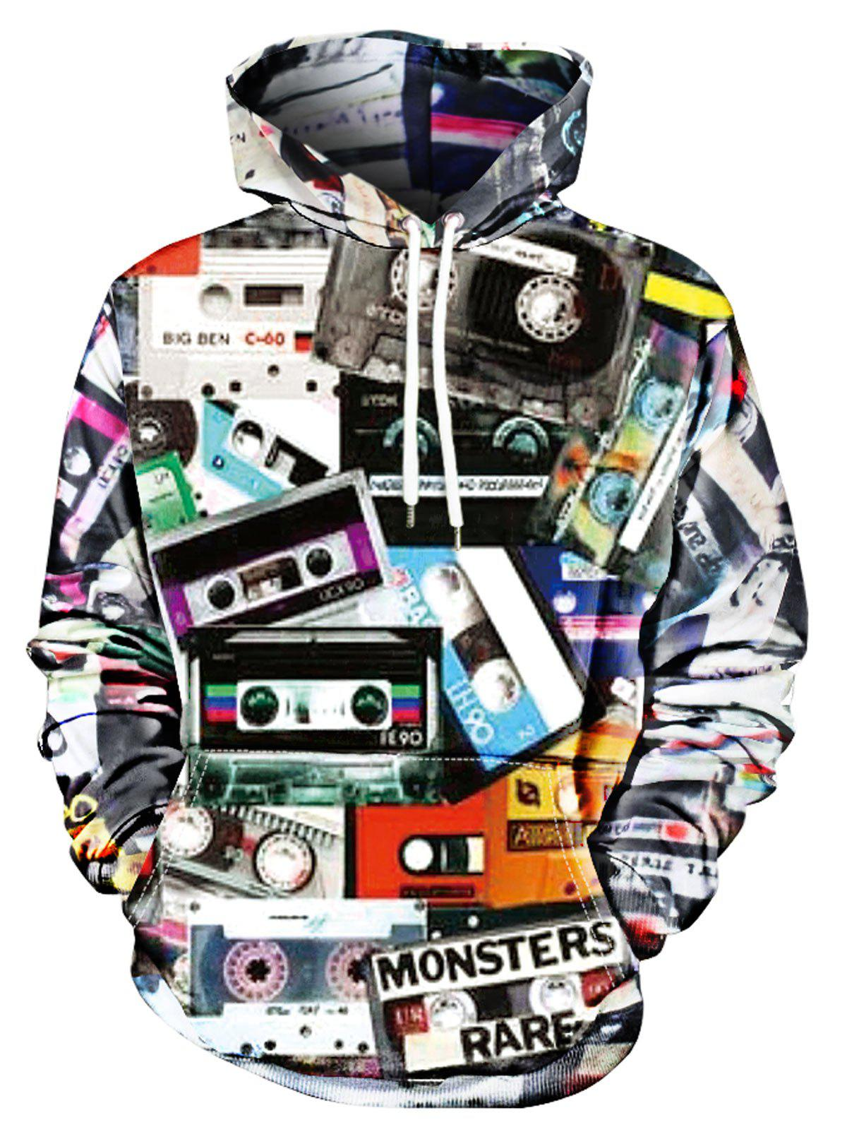 Shop Storage Tape Print Kangaroo Pocket Hoodie