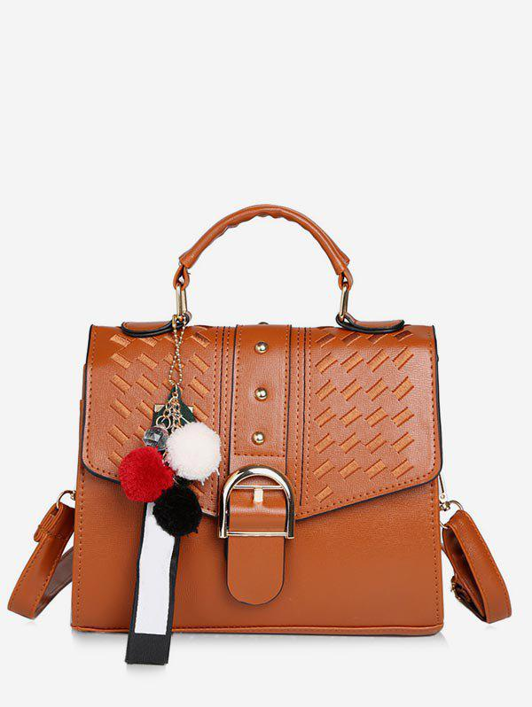 Outfit Buckle PU Leather Tote Bag with Strap