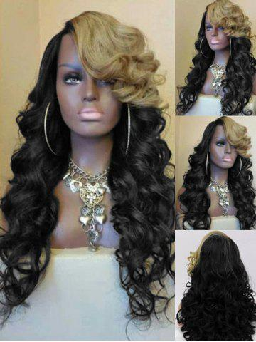 Long Side Bang Two Tone Loose Wave Party Synthetic Wig