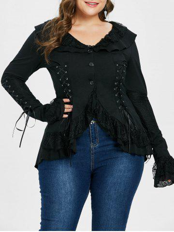 3aac4c80176 52% OFF   2019 Plus Size Lace Up Fuzzy Hooded Coat