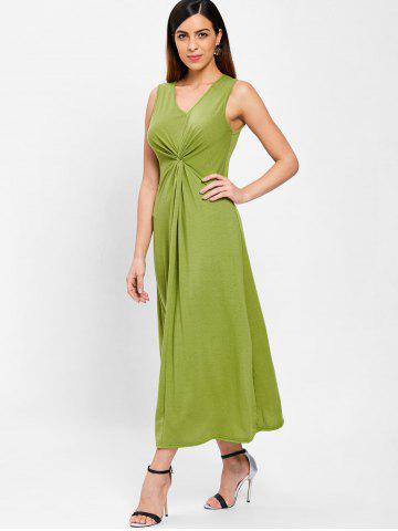 Ruched Front Maxi Sleeveless Dress