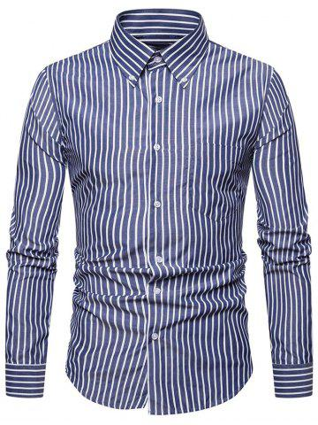 Classical Chest Pocket Striped Shirt