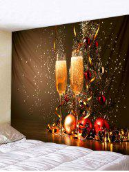 Christmas Glass Tapestry Wall Art Home Decor -