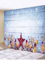 Christmas Stars Wood Grain Print Tapestry Wall Hanging Art Decoration -