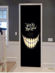 Halloween Smile Printed Door Art Stickers -