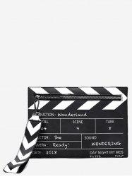 Clapperboard Shape PU Leather Clutch Bag -