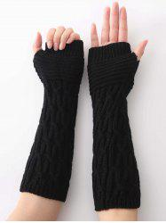Unique Irregular Striped Crochet Knitted Gloves -