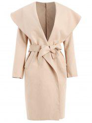 Shawl Collar Wrap Coat -