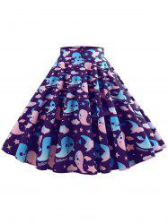 Halloween Ghost Pattern Mid Calf Skirt -