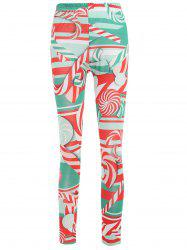 Lollies Print Mid Waist Leggings -