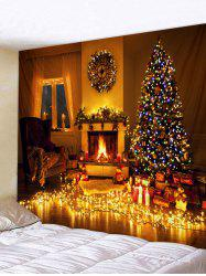 Christmas Home Lamp Printed Tapestry Wall Art Decor -
