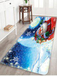 Christmas Santa Claus Pattern Water Absorption Area Rug -