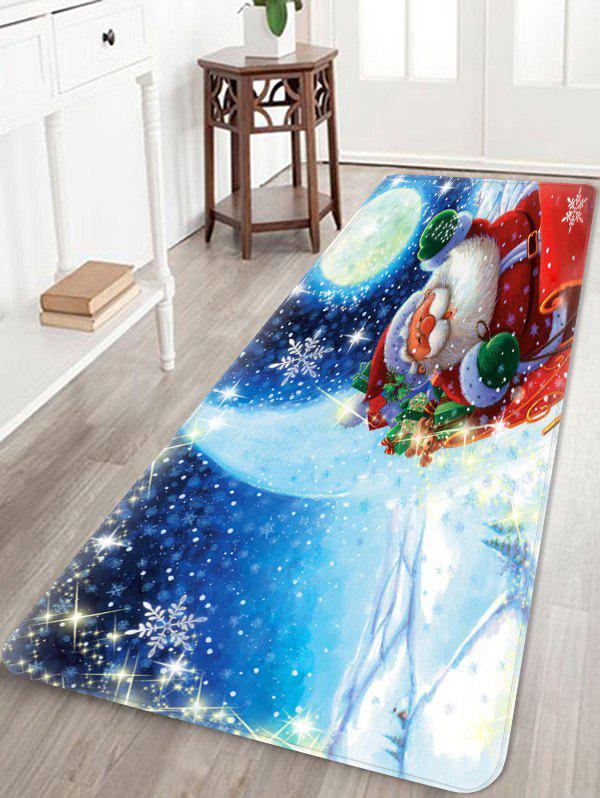 Outfits Christmas Santa Claus Pattern Water Absorption Area Rug