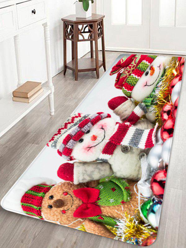 Chic Christmas Snowmen Pattern Water Absorption Area Rug