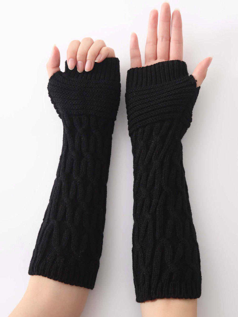 Affordable Unique Irregular Striped Crochet Knitted Gloves