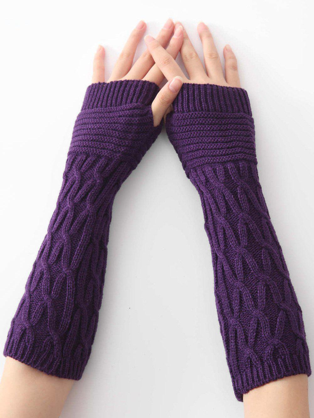 Sale Unique Irregular Striped Crochet Knitted Gloves