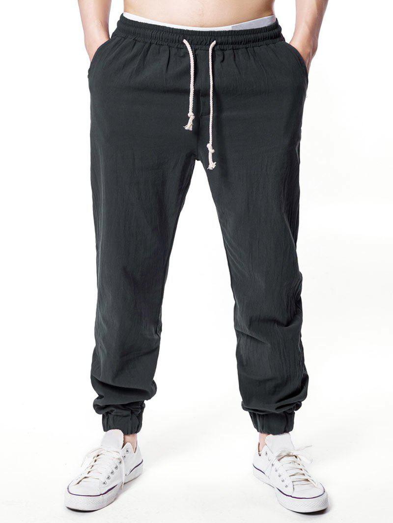 Outfits Solid Color Elastic Waist Jogger Pants