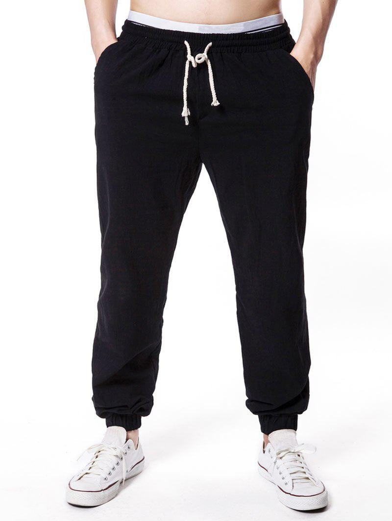 Outfit Solid Color Elastic Waist Jogger Pants