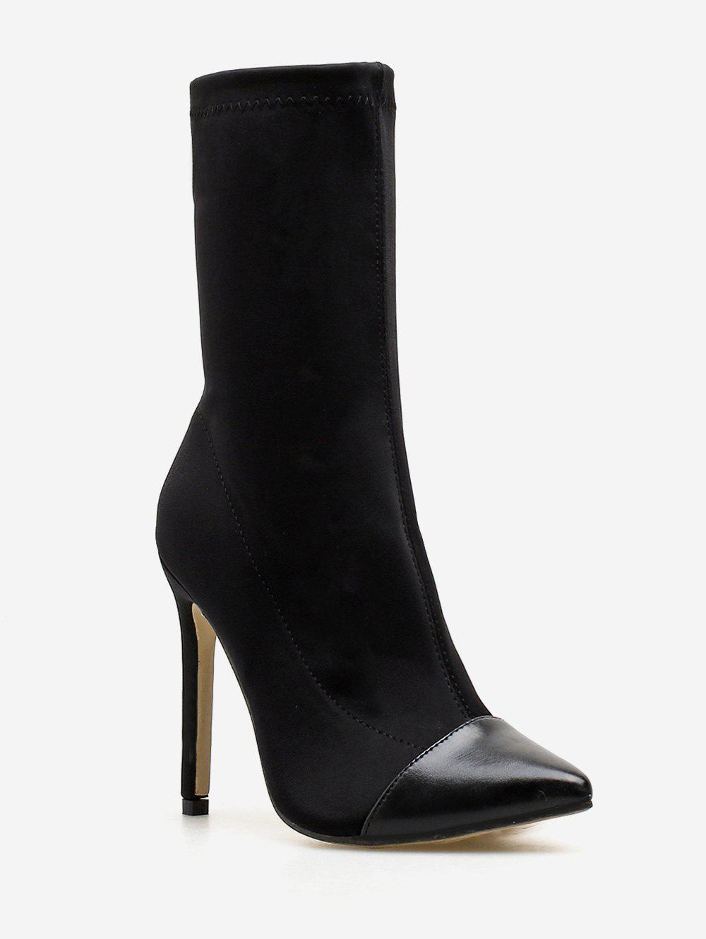 Store Pointed Toe High Heel Sock Boots