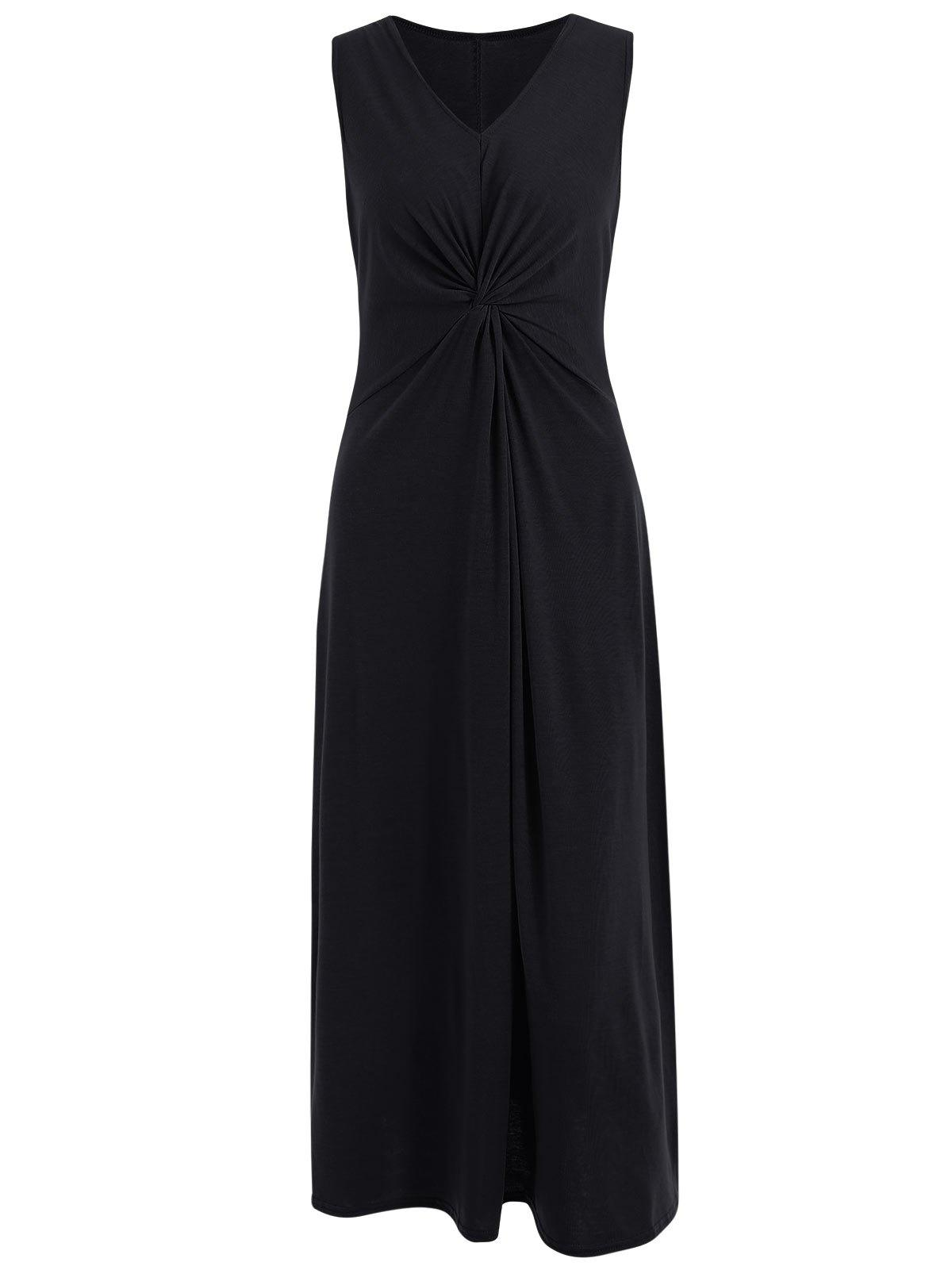 Shop Ruched Front Maxi Sleeveless Dress