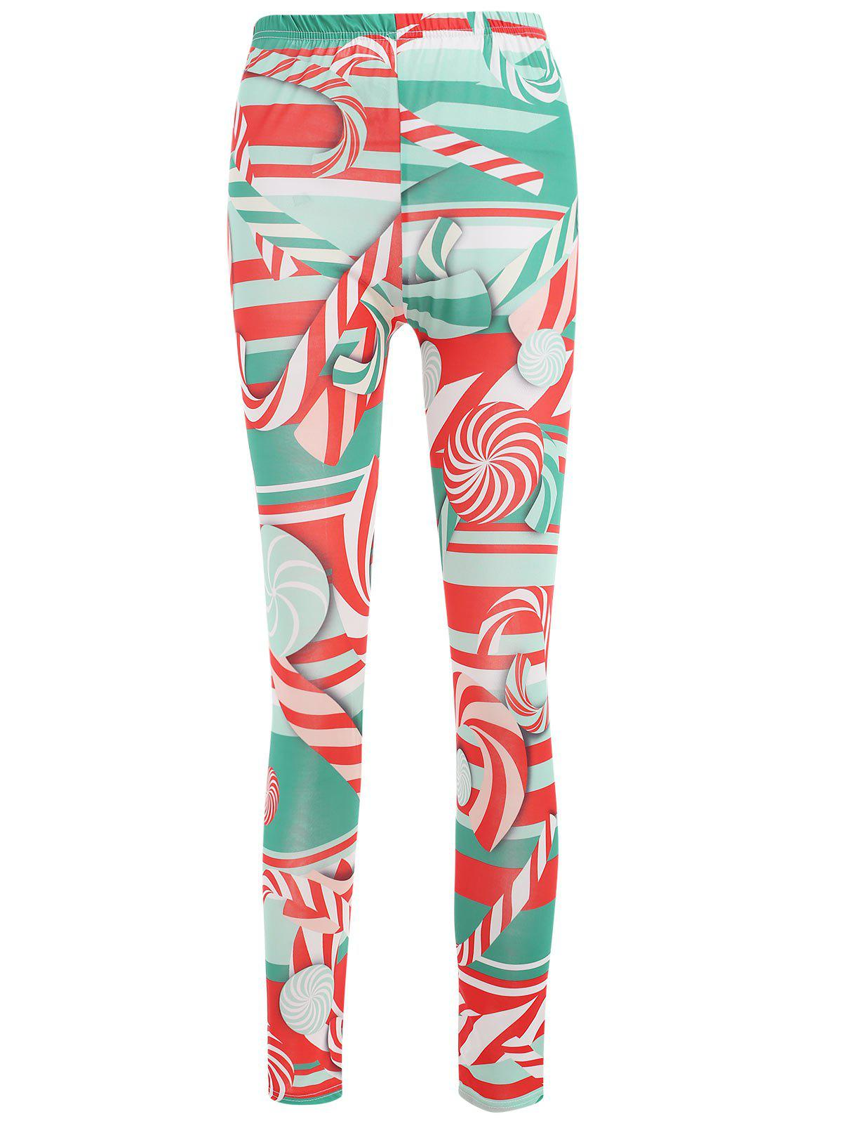 Shops Lollies Print Mid Waist Leggings
