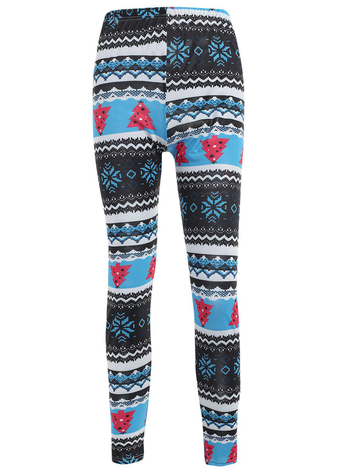 Shop Snowflake Print High Waist Leggings