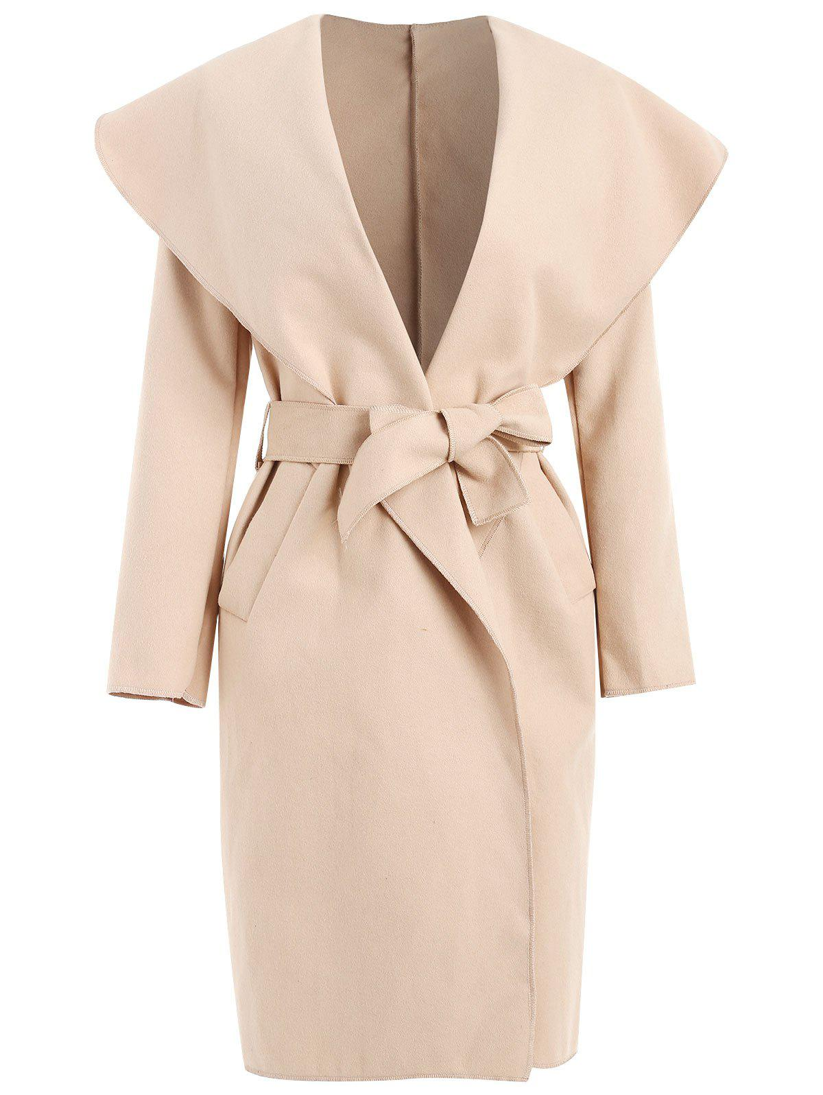 Outfit Shawl Collar Wrap Coat