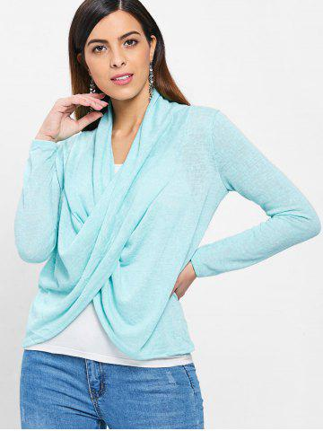 Cross Drape Wrap Sweater