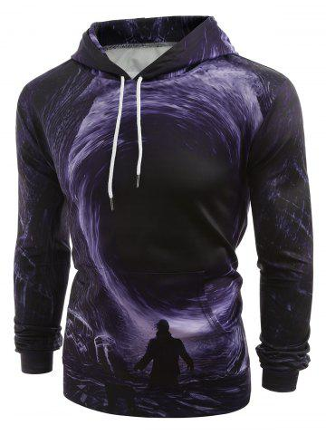 5adb70a7c44f 3D Swirl and Male Printed Pullover Hoodie