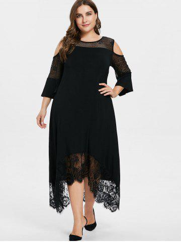 Cold Shoulder Black Lace Dress Free Shipping Discount And Cheap