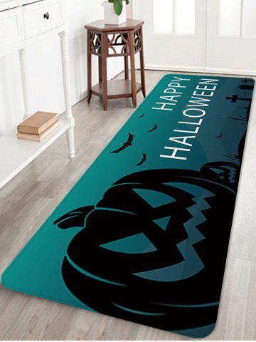 Happy Halloween Pumpkin Pattern Water Absorption Area Rug