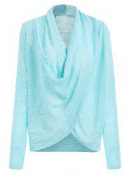 Cross Drape Wrap Sweater -