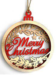 Merry Christmas Wooden Hanging Decoration -