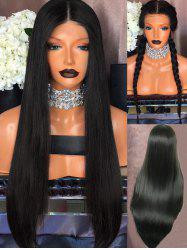 Center Parting Long Straight Party Synthetic Lace Front Wig -