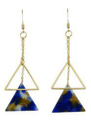 Natural Stone Triangle Drop Earrings -