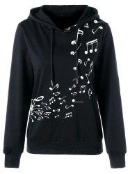 Color Block Music Note Hoodie -