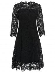 Floral Lace Party Dress -