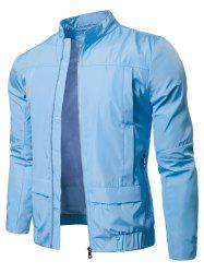 Waterproof Solid Color Zipper Jacket -