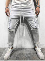 Solid Velcro Cargo Sweatpants -